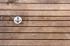 Łódź starzejący się drewniany pokład z haczykiem Obraz Royalty Free