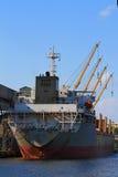Łódź w dockyard Zdjęcia Royalty Free