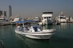 Łódź w Marina na sposobie Failaka wyspa zdjęcia royalty free