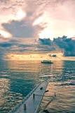 Łódź w morzu Obrazy Stock
