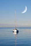 Łódź w morzu Fotografia Stock