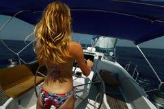 Łódź w morzu zdjęcia stock