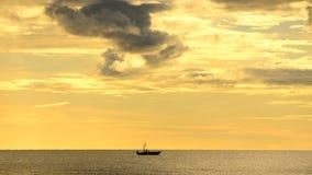 Łódź w morzu Obraz Stock