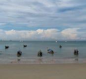 Łódź w morzu Fotografia Royalty Free
