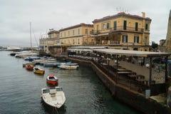 Łódź w Napoli Obrazy Stock