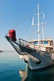 Łódź w porcie Makarska, Chorwacja zdjęcie royalty free