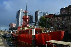 Łódź w Rotterdam Obraz Royalty Free