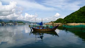 Łódź w Wietnam Zdjęcia Stock