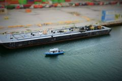 Łódź w zatoce Miami obrazy royalty free