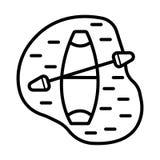Łódź z paddle ikoną ilustracji
