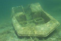 łódź zapadnięta Obrazy Stock