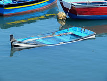 łódź zapadnięta Zdjęcia Stock