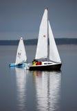 łódka dwa żeglując Fotografia Stock