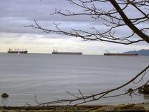 łódka horyzontu ładunku rejsów tankowiec statków Zdjęcie Stock