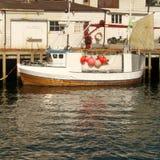 łódka jest lofoten połowów Obraz Stock