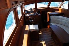 łódka luksus wewnętrznego Zdjęcia Royalty Free
