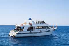 łódka nurków transportu Zdjęcia Stock