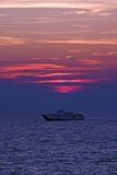 łódka słońca obraz stock