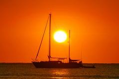 łódka wschód słońca Fotografia Stock