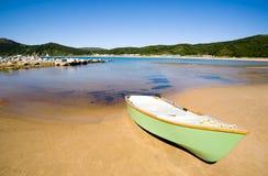 łódka zatoki morza zdjęcie royalty free