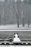 łódkowaci doki szaleją zima Obrazy Royalty Free