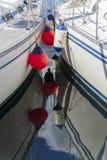 Łódkowaci fenders zdjęcia stock