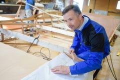Łódkowata budowa na postępie fotografia royalty free