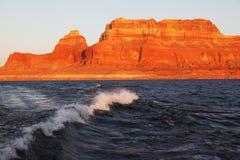łódkowata jeziorna powell podróży podróż Obrazy Stock