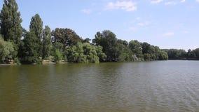 Łódkowata przejażdżka na jeziorze zbiory
