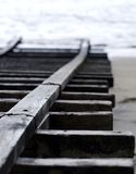 Łódkowata rampa Na plaży Fotografia Royalty Free