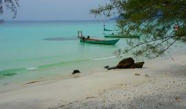 Łódkowata ` s Kambodżańska plaża Zdjęcie Stock