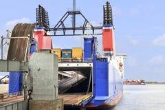 łódkowata samochodowego promu ciężarówka Obraz Royalty Free