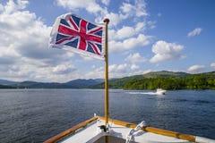 Łódkowata wycieczka na Jeziornym Windermere Brytyjski Jeziorny okręg Fotografia Royalty Free