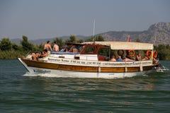 Łódkowata wycieczka turysyczna w Dalyan Obraz Stock