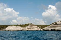 Łódkowata wycieczka wokoło wyspy Corsica Zdjęcia Royalty Free