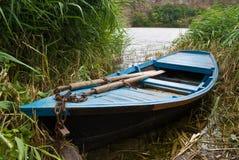 łódkowatego połowu stary drewniany Fotografia Royalty Free