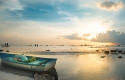łódkowatego połowu stary morze Zdjęcie Royalty Free