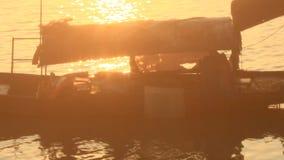 łódkowatego połowu stary rzeczny drewniany zbiory