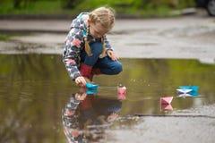 łódkowatego układu rękodzielniczy origami papieru planu wektor Fotografia Royalty Free