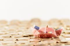łódkowatego układu rękodzielniczy origami papieru planu wektor Obraz Stock