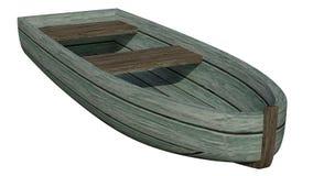 łódkowatej depresji zmotoryzowany przypływ drewniany royalty ilustracja