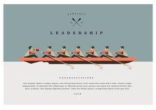 ŁÓDKOWATEJ rasy przywódctwo BIZNESOWY PŁASKI projekt royalty ilustracja