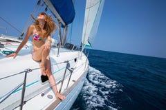 łódkowaty żagiel zdjęcie royalty free
