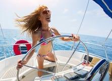 łódkowaty żagiel fotografia stock