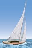 łódkowaty żeglowanie royalty ilustracja