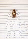 Łódkowaty żeglowanie na papierze Obraz Royalty Free