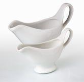 łódkowaty ceramiczny sos zdjęcia royalty free
