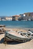 łódkowaty chania Crete połów Greece stary Obrazy Stock