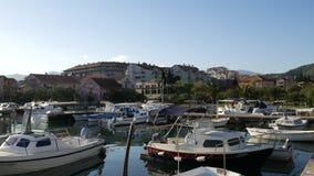 Łódkowaty dok w Montenegro, Budva zbiory wideo