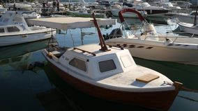 Łódkowaty dok w Montenegro, Budva zdjęcie wideo
